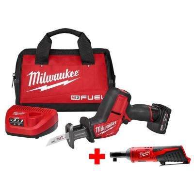 M12 FUEL 12-Volt Lithium-Ion Brushless Cordless HACKZALL Reciprocating Saw Kit W/ Free M12 3/8 in. Ratchet