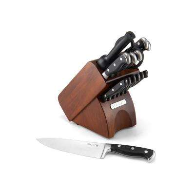 15-Piece Forged Triple Rivet Knife Block Set with Acacia Block
