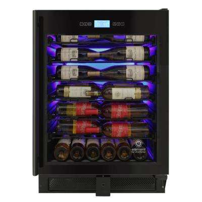 23.5 in. 41-Bottle Left Hinge Single-Zone Wine Cooler in Stainless