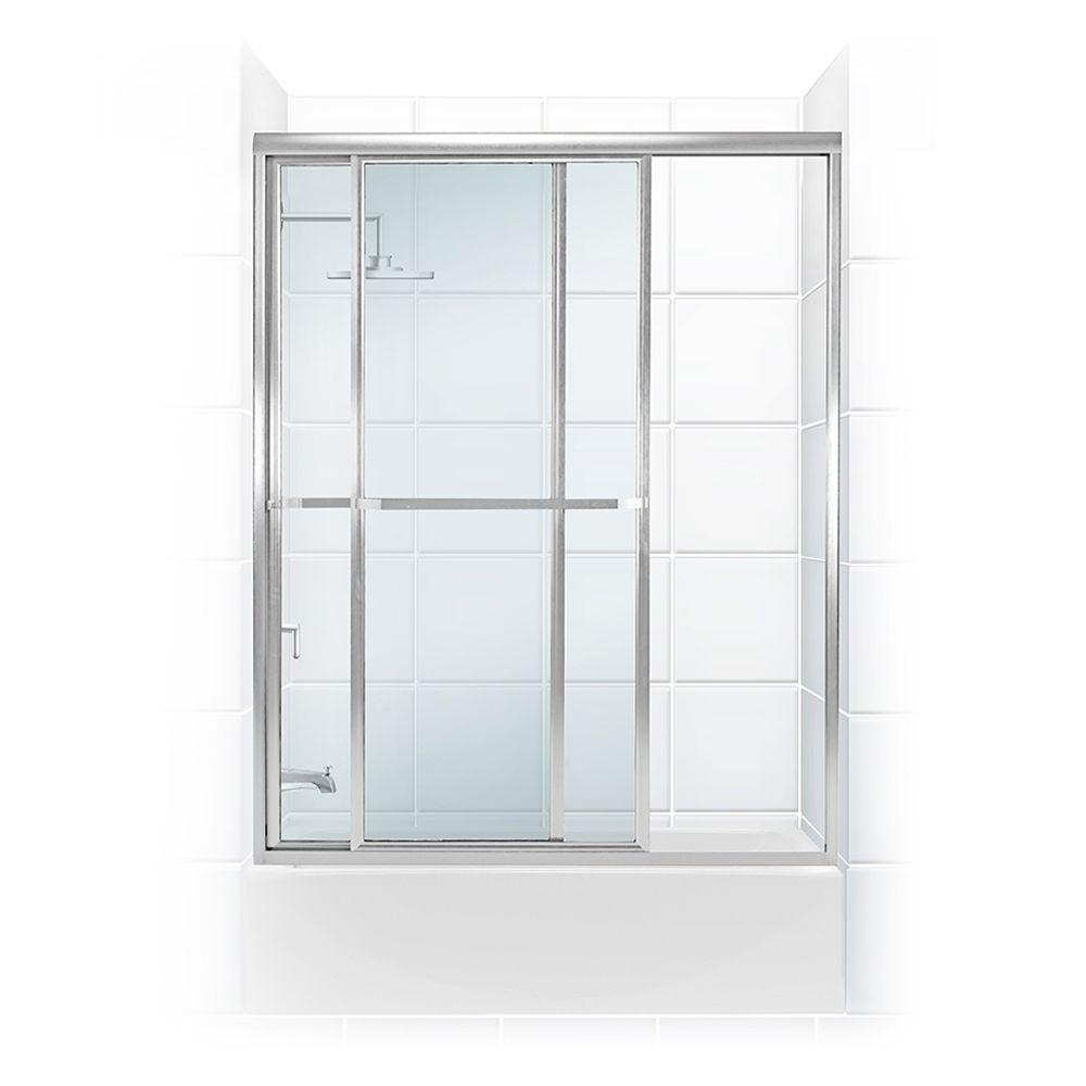 Paragon Series 52 in. x 56 in. Framed Sliding Tub Door