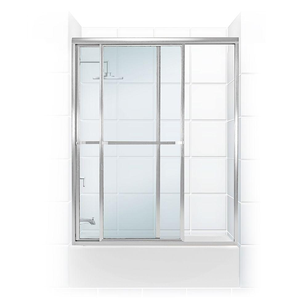 Coastal Shower Doors Paragon Series 58 in. x 58 in. Framed Sliding Tub Door  sc 1 st  The Home Depot & Coastal Shower Doors Paragon Series 58 in. x 58 in. Framed Sliding ...