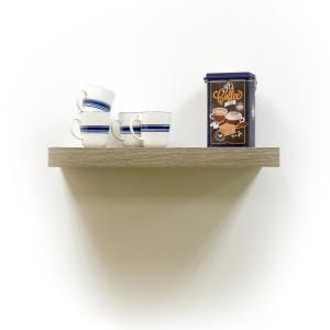 inPlace-24 in. W x 10 in. D x 2 in. H Rustic Wood Floating Shelf