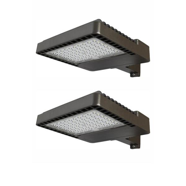 150-Watt, 18,000 Lumens, Commercial Integrated LED Area Light and Flood Light, Dusk to Dawn Outdoor Light (2-Pack)