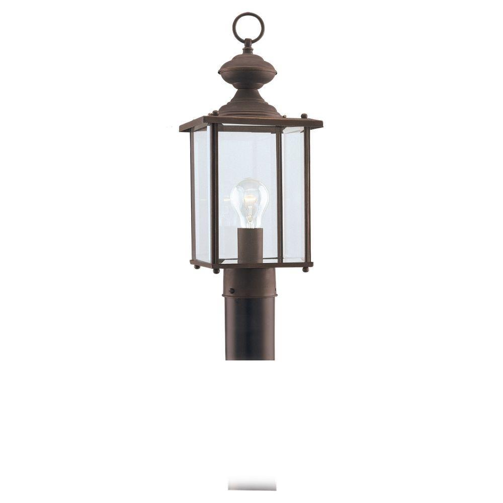 Jamestowne 1-Light Antique Bronze Outdoor Post Top