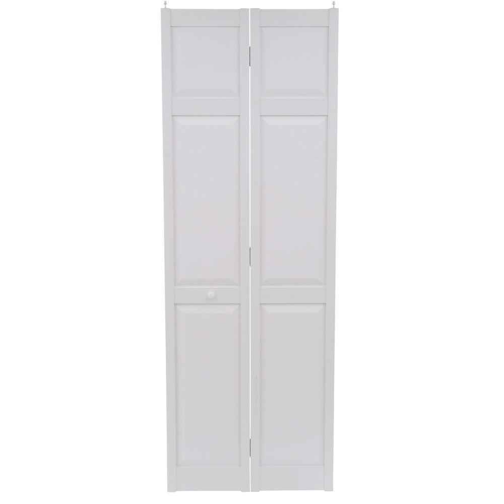 28 In. X 80 In. 6 Panel White PVC Composite Interior Bi