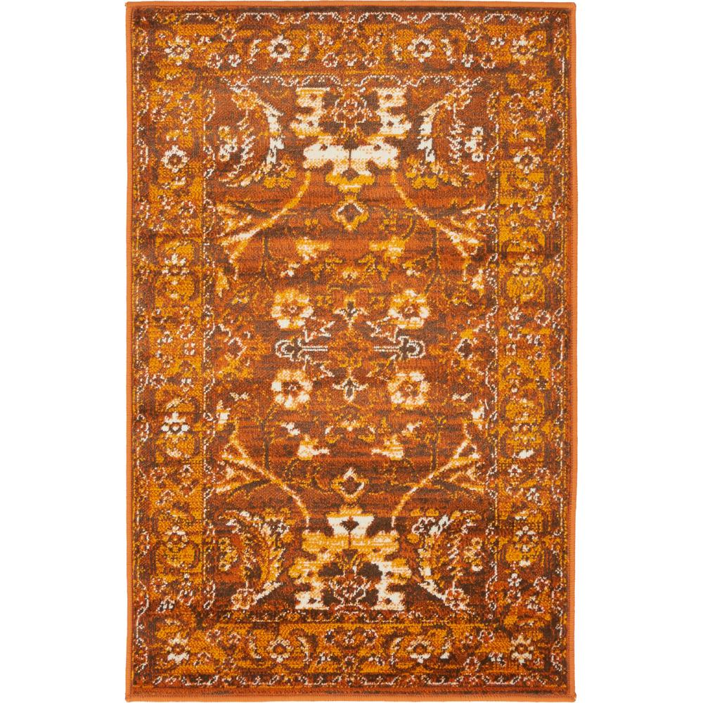 Unique loom istanbul chocolate brown 2 ft x 3 ft area rug 3134841 the home depot for Chocolate brown bathroom rugs