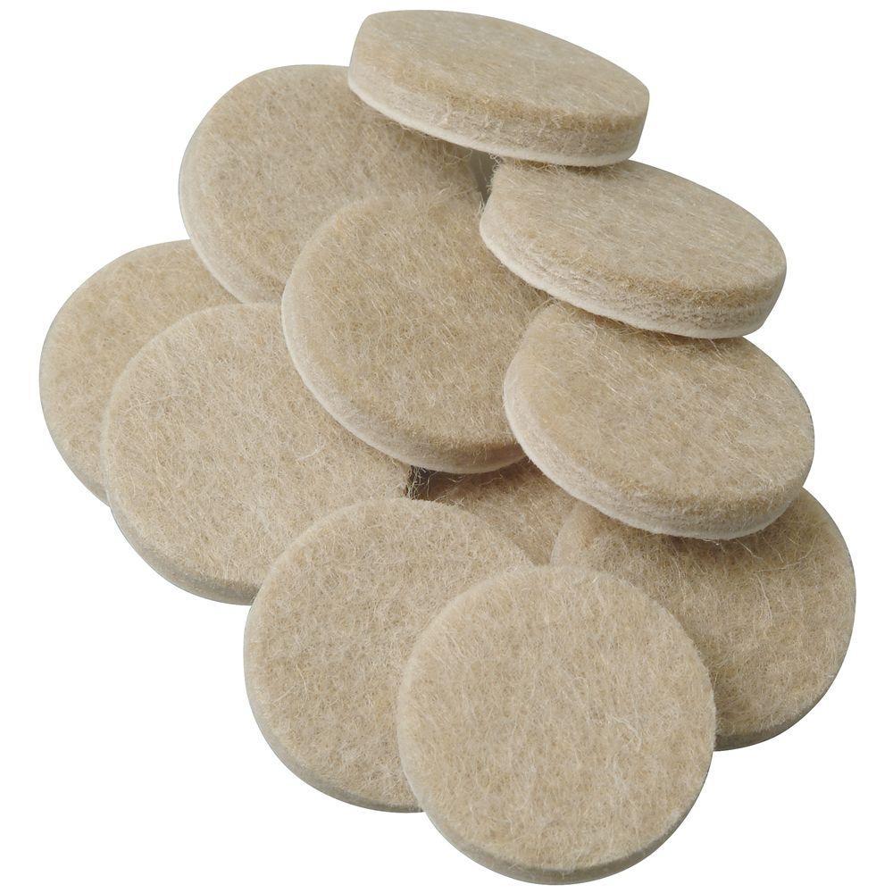 Everbilt 1 in. Oatmeal Felt Pads (48 per Pack)