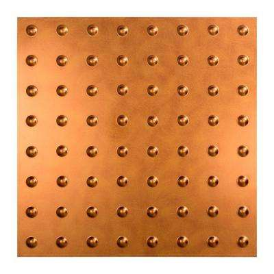Dome - 2 ft. x 2 ft. Lay-in Ceiling Tile in Antique Bronze