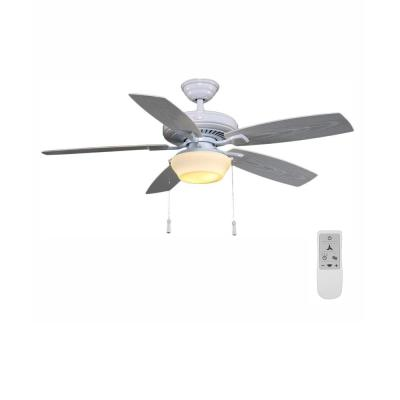 Gazebo 52 in. LED White Ceiling Fan with Light Kit and WiFi Remote Control works with Google and Alexa