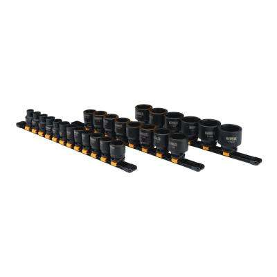 1/2 in. Drive Metric Impact Socket Set (26-Piece)