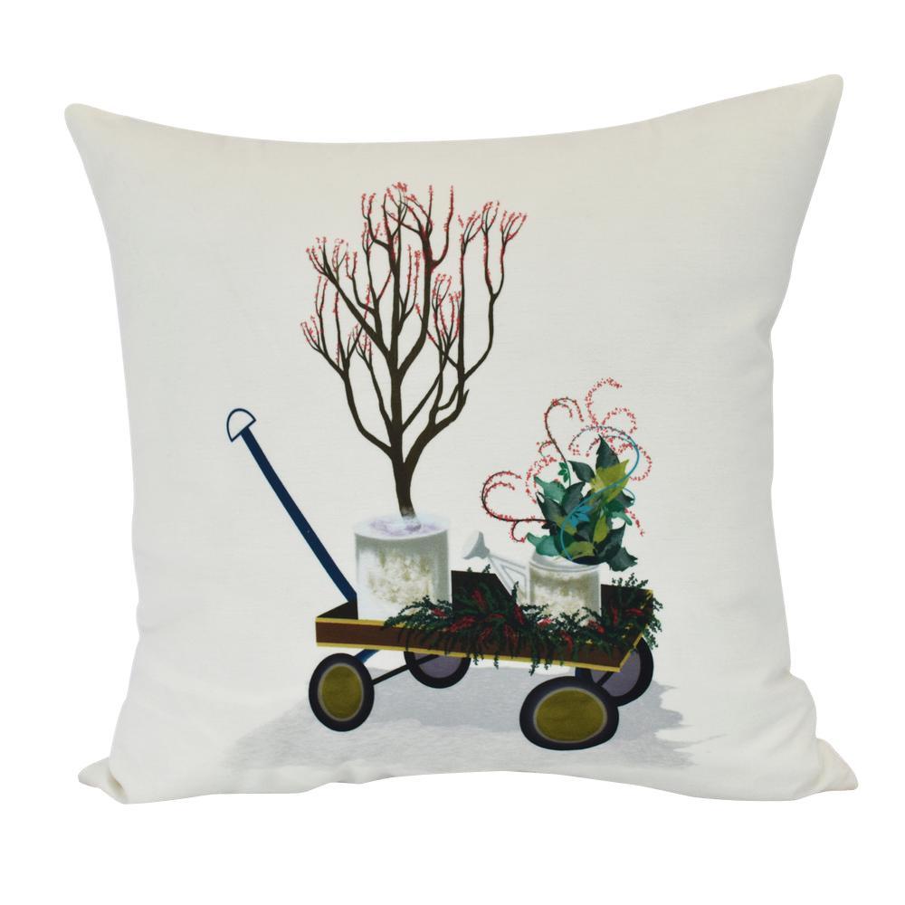 E by design PHG957GR34-26 Fair Isle Decorative Geometric Throw Pillow 26 Green