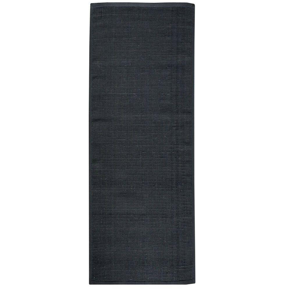 Home Decorators Collection Woolen Jute Black 3 ft. x 10 ft. Runner