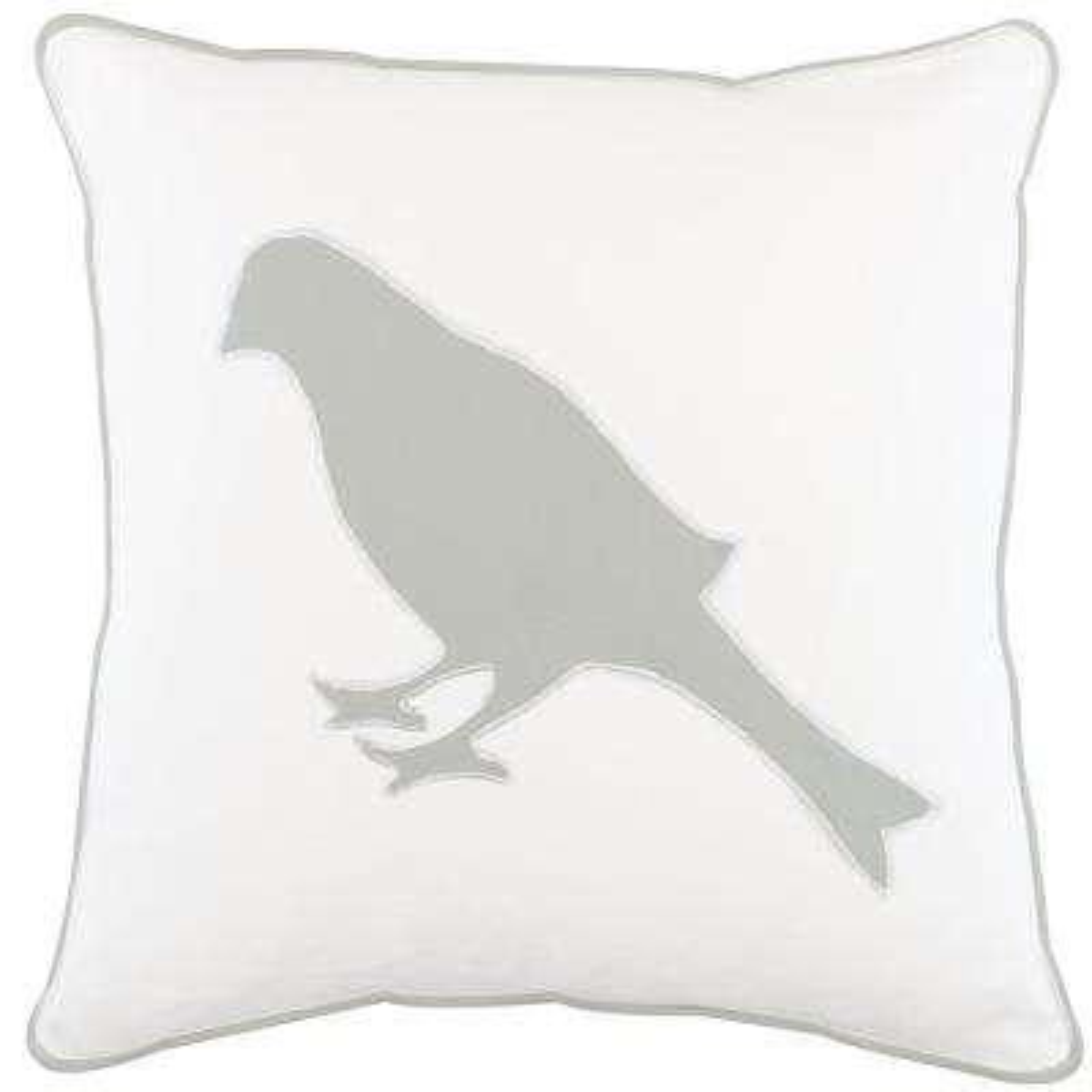 American Colors Appliqued Bird Pillow