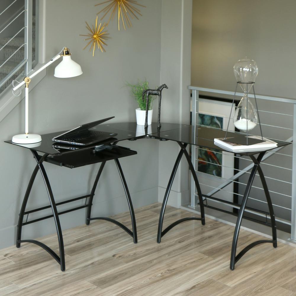 Walker Edison Furniture Company Alexa Black Desk