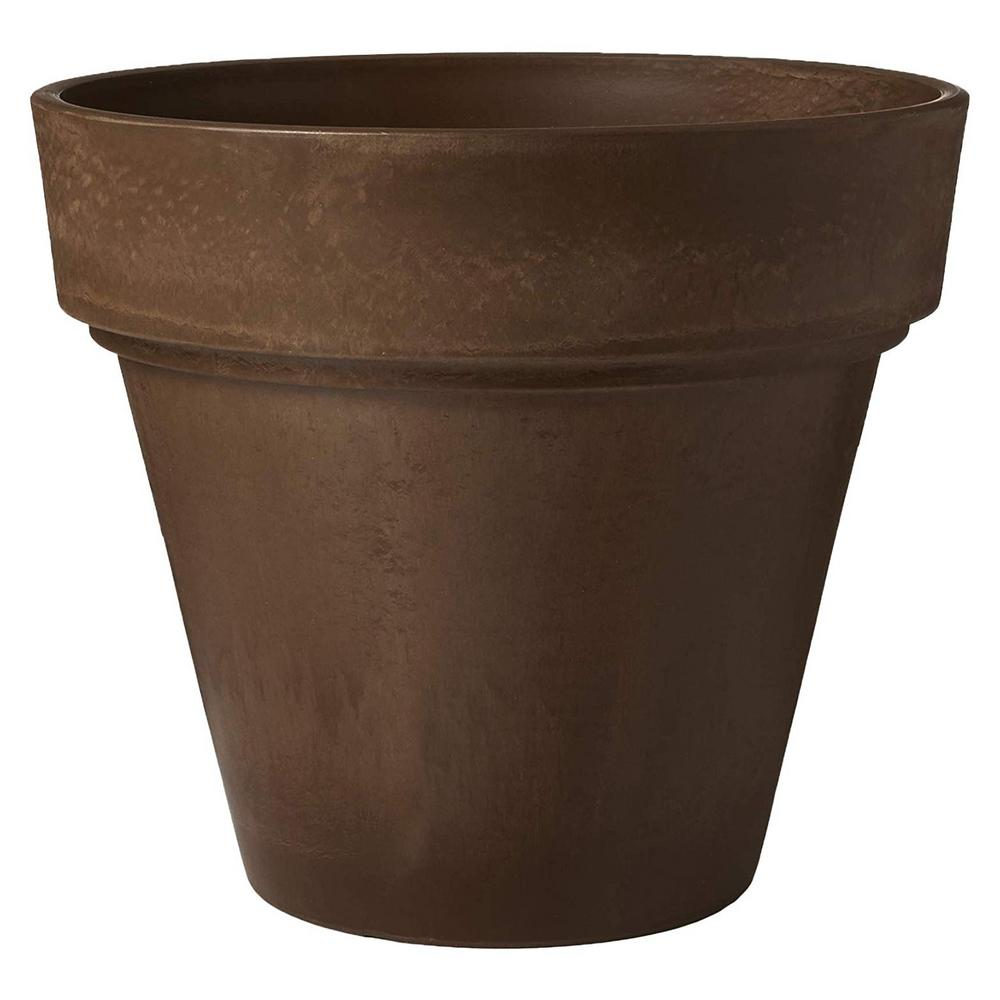 Arcadia Garden Products Traditional 21-1/2 in. x 20 in. Chocolate PSW Pot