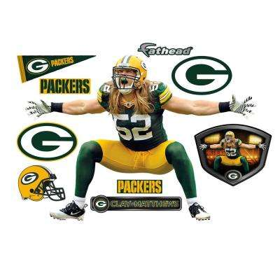 51 in. H x 71 in. W Clay Matthews Sack Celebration Wall Mural