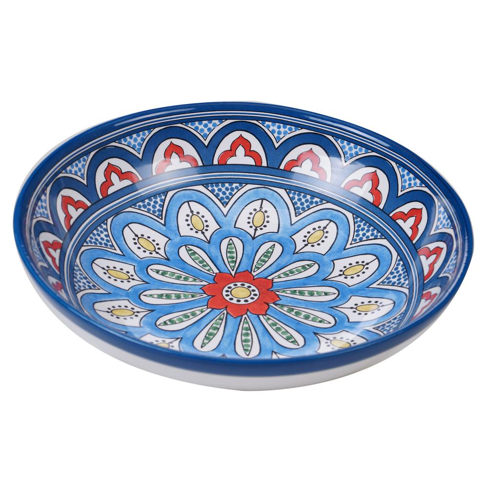 Tangier Multi-Colored 13 in. Serving/Pasta Bowl
