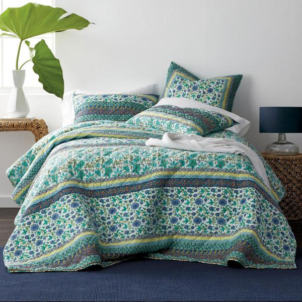 The Company Store Izmir Floral Cotton King Quilt 50298Q-K-MULTI