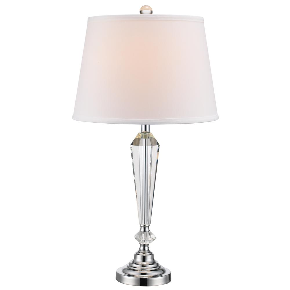 Laguna 24.5 in. Polished Chrome Table Lamp