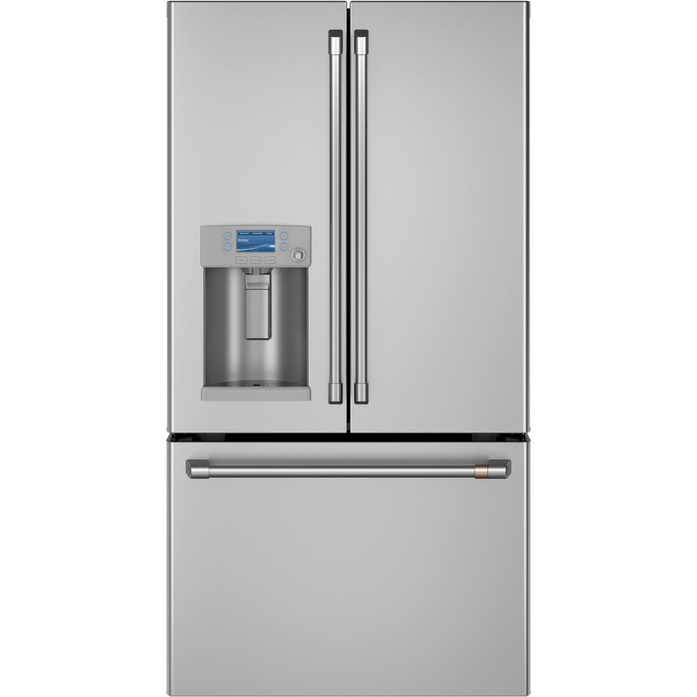 Cafe 22.2 cu. ft. Smart French Door Refrigerator in Stainless Steel, Counter Depth and ENERGY STAR