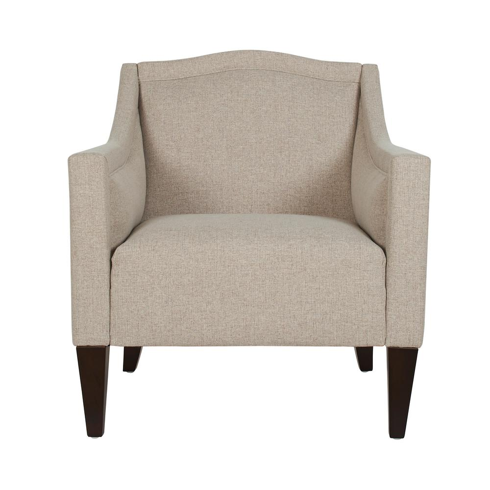 Jacqueline Feather Grey Accent Chair