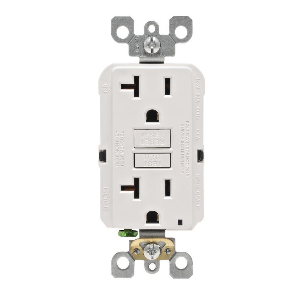 20 Amp SmartlockPro GFCI Outlet, Red