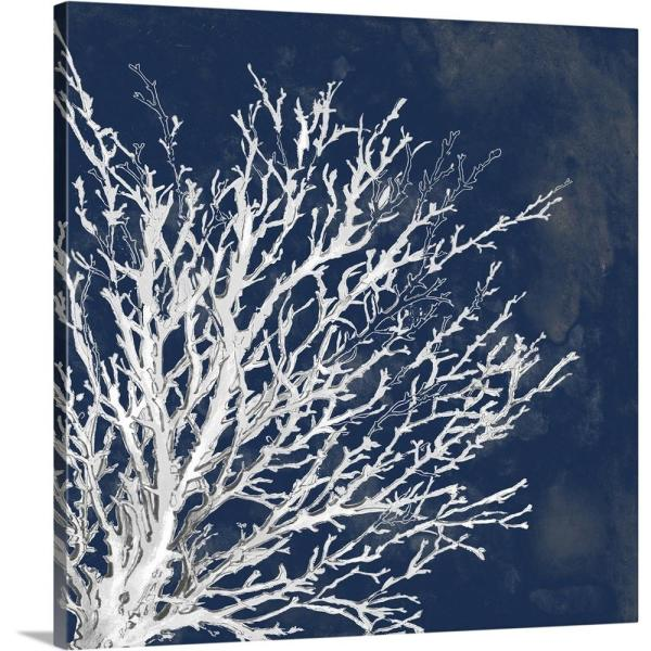36 in. x 36 in. ''Coastal Coral II'' by  Lanie Loreth Canvas Wall Art