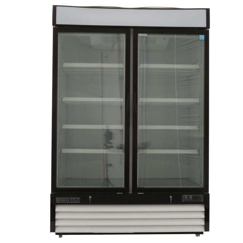 Double Door Merchandiser Refrigerator In White