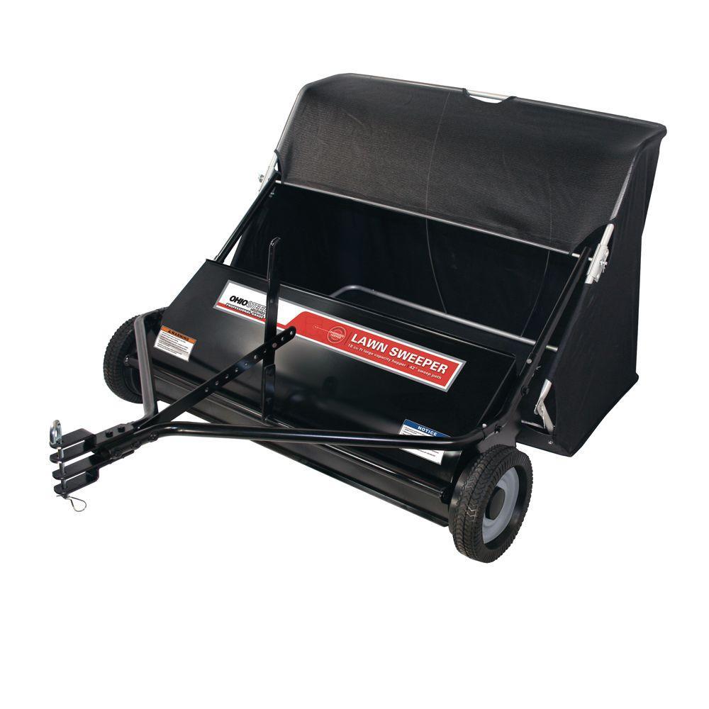 Ohio Steel Professional Grade 42 in. 18 cu. ft. Lawn Sweeper