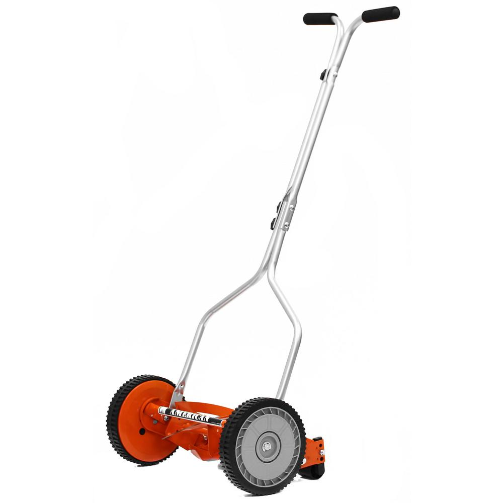 american lawn mower company 14 in manual push walk behind reel lawn