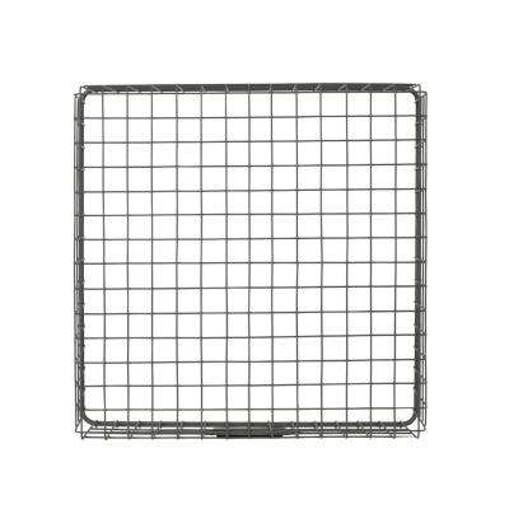 12 in. D x 12 in. W x 4 in. H Industrial Gray Vintage Steel Wire Storage Basket