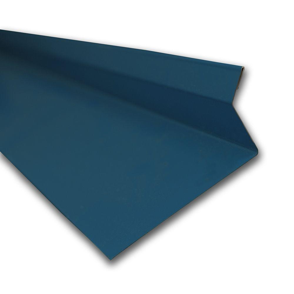 Metal Sales 4.25 in. x 10.5 ft. Drip Edge Flashing Cap in Ocean Blue