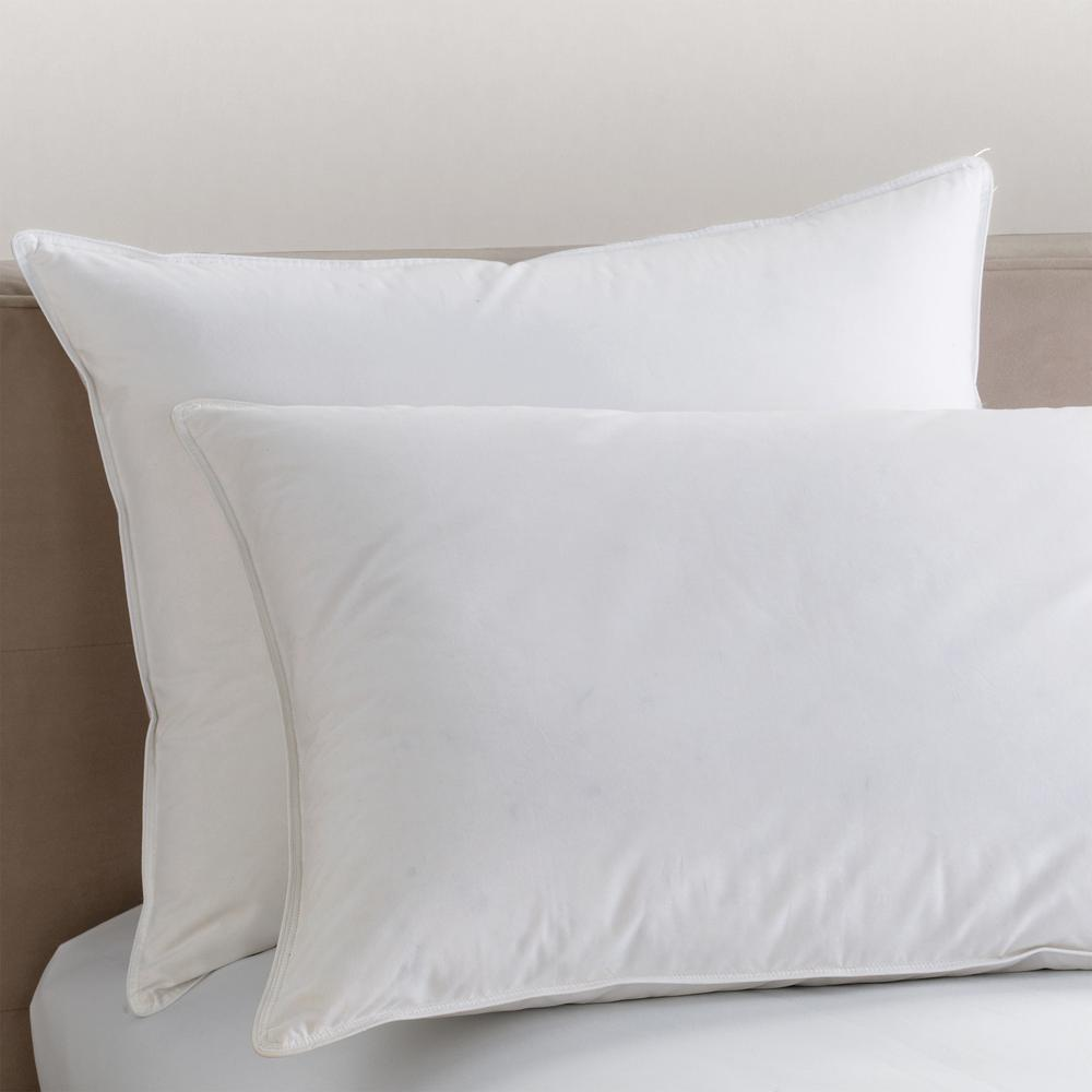 Organic White Medium Down Queen Pillow