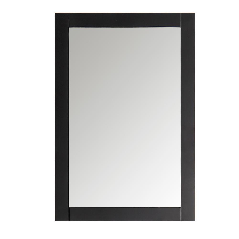 Hudson 20 in. W x 30 in. H Framed Rectangular Bathroom Vanity Mirror in Black