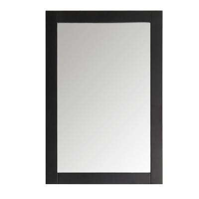 Hudson 20 in. W x 30 in. H Framed Wall Mirror in Black Finish