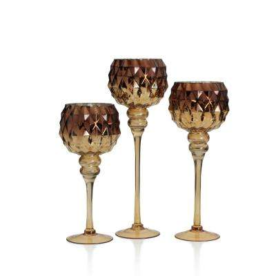Elements Glass Tealight Goblets (Set of 3) by Elements
