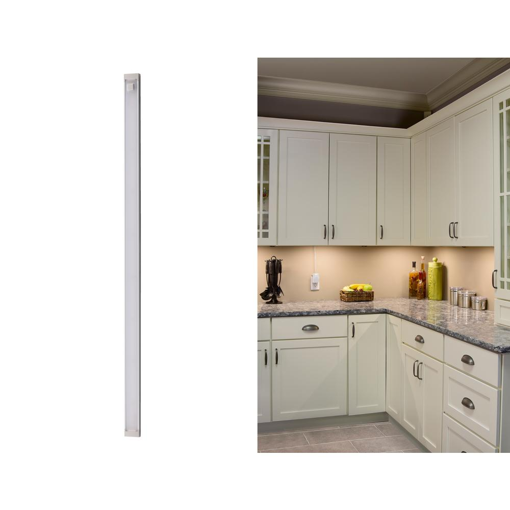 18 in. LED Warm White 2700K, Dimmable, 1-Bar Under Cabinet Lights
