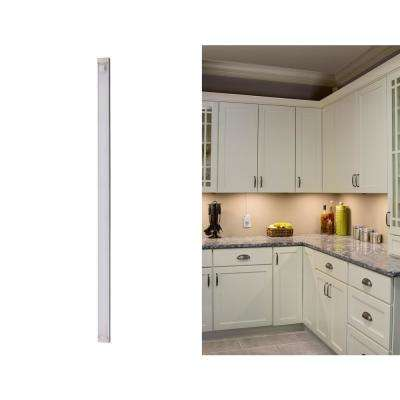 18 in. LED Warm White 2700K, Dimmable, 1-Bar Under Cabinet Lights Kit with Hands-Free On/Off (Tool-Free Plug-in Install)