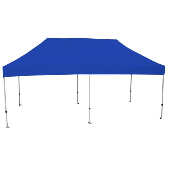Goliath 10 ft. x 20 ft. Silver Frame Instant Pop Up Tent with Blue Cover