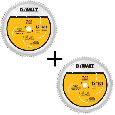 FLEXVOLT 12 in. 78-Teeth Carbide-Tipped Miter Saw Blade (2-Pack)