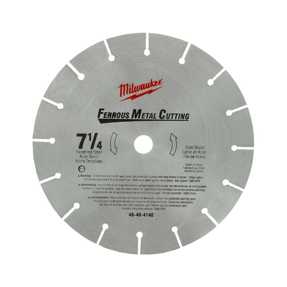 Milwaukee 7 14 in high speed steel circular saw blade 48 40 4140 high speed steel circular saw blade 48 40 4140 the home depot greentooth Choice Image