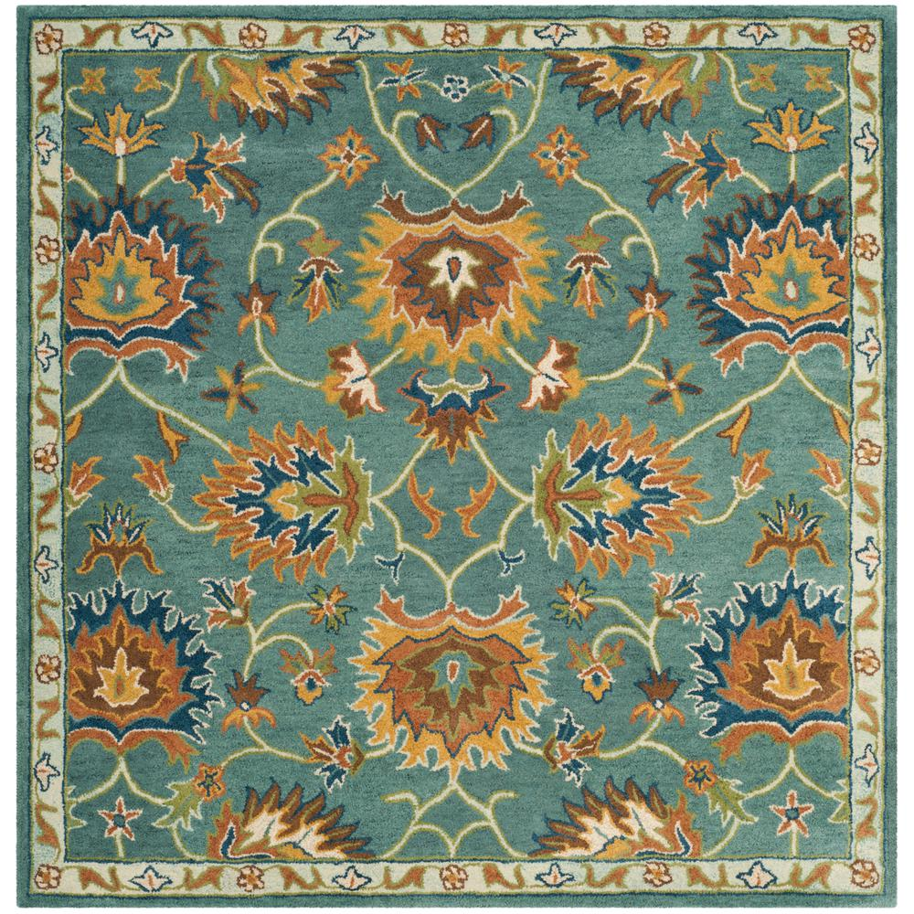 Heritage Light Blue 6 ft. x 6 ft. Square Area Rug