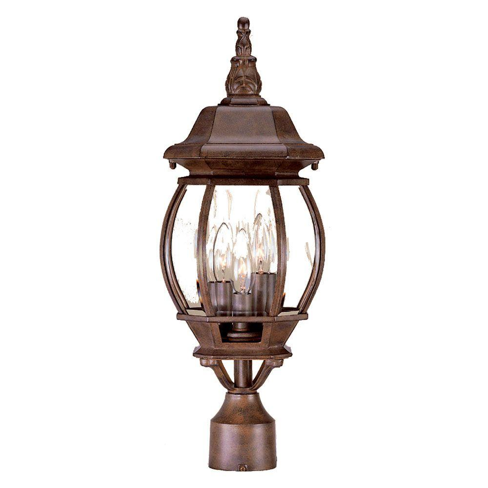 Acclaim lighting chateau 3 light burled walnut outdoor post mount acclaim lighting chateau 3 light burled walnut outdoor post mount light fixture mozeypictures Gallery