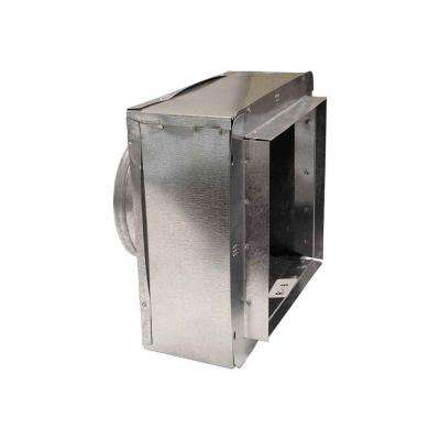 10 in. x 10 in. to 8 in. Insulated Register Box with Flange R-6