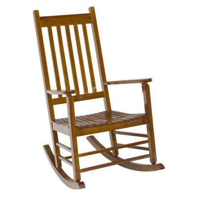 natural mission patio rocker