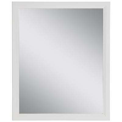 Brinkhill 26 in. W x 31 in. H Framed Wall Mirror in White