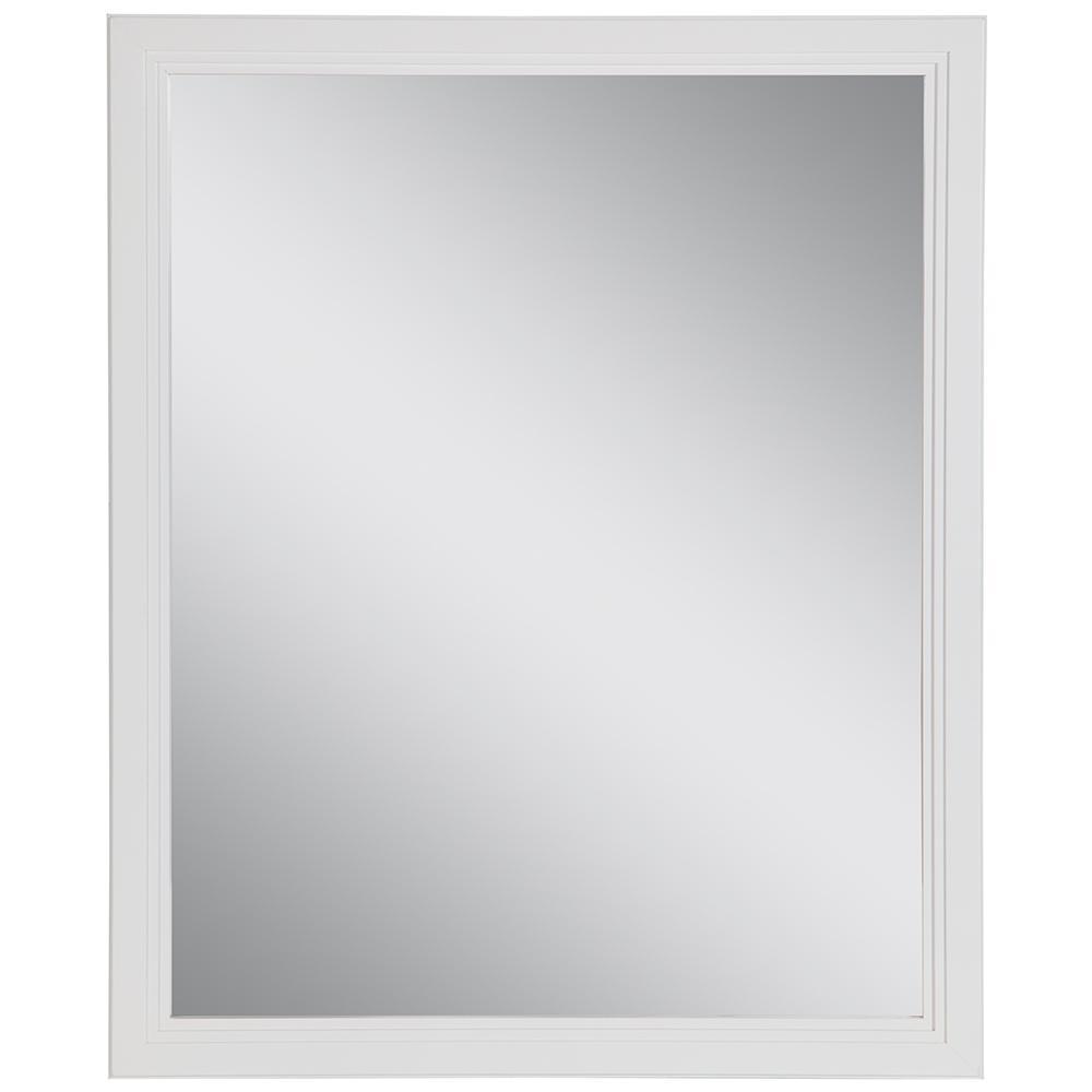 Brinkhill 26 in. W x 31 in. H Framed Wall Mirror in White