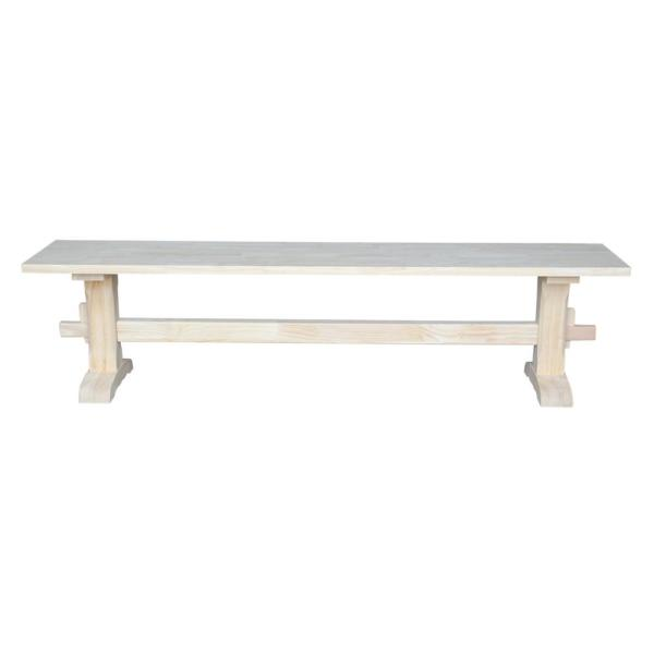 International Concepts Unfinished Bench Be 1: International Concepts Unfinished Bench KBE-72