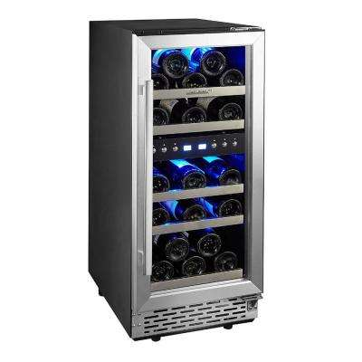 15 in. Built-In or Free-Standing 29 Bottle Wine Cooler Refrigerator