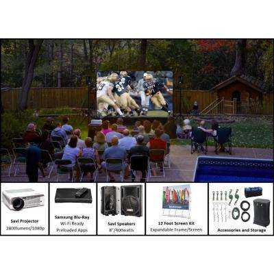 QuikScreen 12 ft. Backyard Theater System